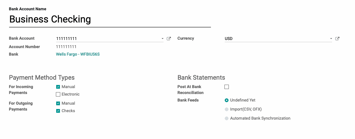 Accounting: Setting up a New Bank Account